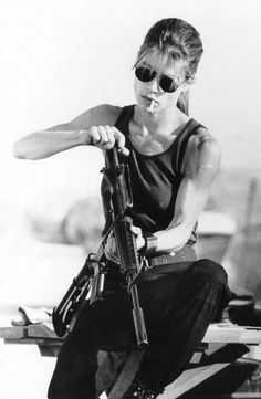 Terminator 2 - Linda Hamilton... Crushed so hard as a kid on her...