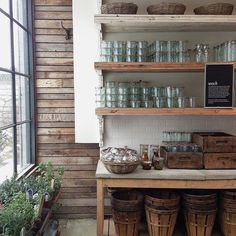 Glass jars for food storage in a zero waste home and pantry