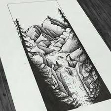 """Результат пошуку зображень за запитом """"тату графика горы"""""""