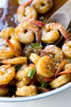 Super Easy Teriyaki Shrimp. Tender shrimp sautéed in a homemade teriyaki sauce. Takes less than 15 minutes to make! Hi guys! It'sKelley back from Chef Savvy! Today I am sharing this Super Easy Teriyaki Shrimp! A quick and easy appetizer or dinner. I love making my own teriyakisauce at home. It's so much easier to …
