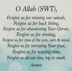 Oh Allah, I've wronged myself but more importantly, I've wronged You. please forgive me ameen. Allah Quotes, Muslim Quotes, Quran Quotes, Religious Quotes, Quran Sayings, Hindi Quotes, Beautiful Islamic Quotes, Islamic Inspirational Quotes, Inspiring Quotes