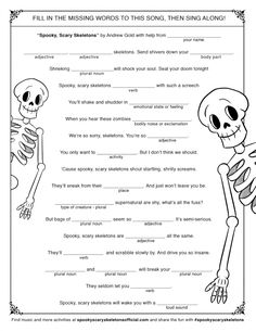 Get your family into the #Halloween spirit with Halloween Howls: Fun and Scary Music PLUS some fun spooky #skeleton #printables for your family! @Craftrecordings #SpookyScarySkeletons #HalloweenAtHome #ad