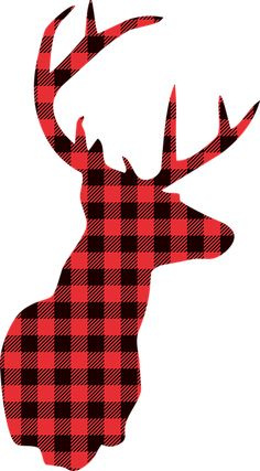 Deer Christmas Lumberjack Buffalo - Free vector graphic on Pixabay Plaid Christmas, Christmas Crafts, Xmas, Christmas Themes, Deer Silhouette Printable, Deer Art, Baby Shower Decorations For Boys, Red And Black Plaid, Oh Deer