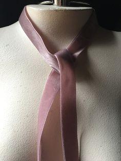 2 yds. Mauve Pink Velvet Ribbon 22mm made in Switzerland for Bridal, Millinery, Garments, Bouquets VL