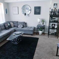 Dark Home Decor, Goth Home Decor, Living Room Grey, Living Room Decor, Bedroom Decor, Casas The Sims 4, Small Apartment Decorating, Dream Rooms, New Room
