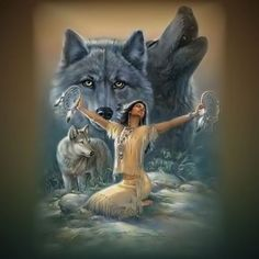 Fantasy Wolf Warrior indian   ... com graphics miscellaneous animals wolves wolf22 jpg alt wolf graphics