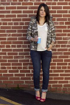 Camo parka and boyfriend jeans via @mystylevita