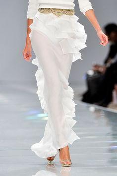 Stunning elegant and sexy white ruffle twirly skirt. TwirlySkirt.com