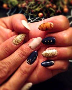 #autumn #gelnail #nailart #fashion