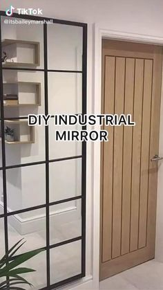 Industrial Mirrors, Industrial Bathroom, Modern Industrial, Home Remodeling Diy, Home Renovation, Diy Mirror, Ikea Mirror Hack, Home Upgrades, Diy Home Improvement