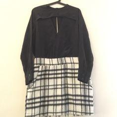 LAST CHANCE TOWNSEN Silk top wool bottom adorable dress Townsen Dresses Long Sleeve