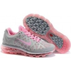 Womens Nike Air Max 2011 Mesh gray/pink running shoes for sale