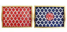 Moroccan Tile Trays Haymarket Designs $75