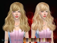Butterflysims: Skysims 066g donation hairstyle • Sims 4 Downloads