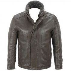 Rugged Lamb Jacket with Removable Shearling Collar