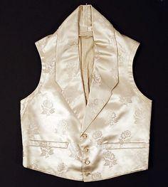 Vest Date: 1837 Culture: French Medium: silk, cotton
