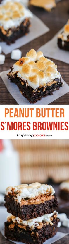 These brownies have all my favorite dessert ingredients - chocolate, peanut butter and marshmallows. I love how all the prep cooking is done in the microwave and how it only has eight simple ingredients.