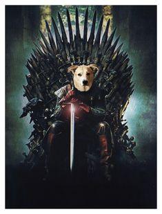 Portrait Images, Pet Portraits, Portrait Renaissance, Game Of Thrones Poster, Fine Art Paper, Pets, Painting, Diy Dog, Little Puppies