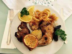 Datolyás, narancsos sült hús Food, Essen, Meals, Yemek, Eten