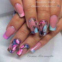 Beautiful Spring Butterfuly Nails!