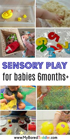 We've found 12 easy sensory play ideas for babies - perfect for a baby 6 months and older and these activities can work for toddlers too