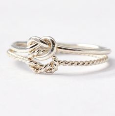 Double Knot Ring: Silver True Love Waits Ring by BlueRidgeNotions