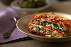 Cut the fat and calories, but not the flavor with this colorful lasagna