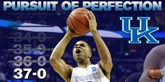 Kentucky is three games away from perfection.  An Elite Eight battle with Notre Dame is up next for the Wildcats.