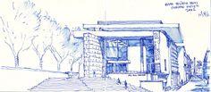 ara pacis museum sketch