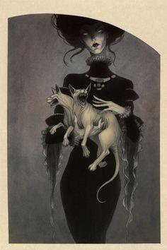 Ghostly comic influenced illustrations by Lenka Simeckova