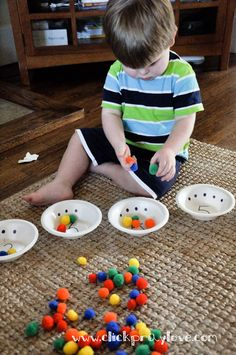Click. Pray. Love: Toddler Activity #5: Counting with Bowls and Colorful Pompoms