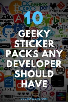 10 Geeky Sticker Packs Any Developer Should Have | Looking for some cool and geeky stickers for your laptop. It seems you can always find a developer wherever there are some stickers in some form as a laptop decal. It's like it's a part of the developer culture. If you want to spice up your coding tools then check out these goofy and silly stickers that you will be sure to love and add to anything you want to decorate. #geekstickers #geekstickerslaptopdecal #nerdstickersgeek Best Animes Ever, Tech Gifts For Men, Coding For Beginners, Learn To Code, Laptop Decal, Tech Gadgets, Web Development, Tech Accessories, Things To Think About