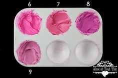 Pink . . . Making The Deep Pink mixed with pinks (6) Electric Pink  (7) Dusty Rose  (8) Fuchsia (9) Mauve