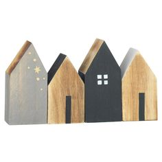Set figuras, House - Figura casas - Figuras madera