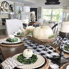 Fall Home Decor, Autumn Home, Fall Dining Table, Dining Room, Dinner Table, Fall Living Room, Deco Table, Seasonal Decor, Table Settings