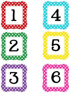 technology rocks. seriously.: Multi Polka Dot Numbers