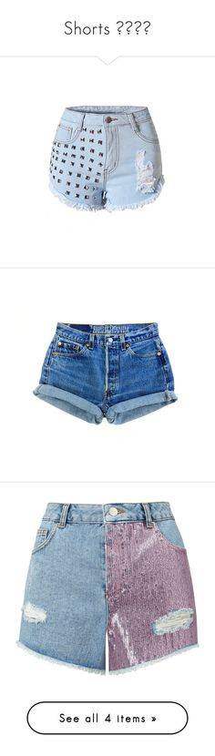 """Shorts 👍🏻🌴🌸"" by lulalalala ❤ liked on Polyvore featuring shorts, bottoms, high waisted jean shorts, high-waisted denim shorts, denim shorts, distressed jean shorts, destroyed jean shorts, pants, short and black"