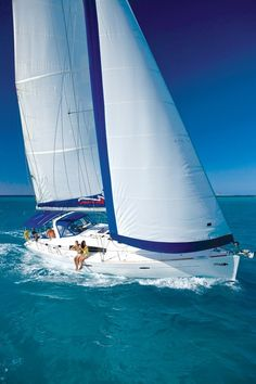 ☼ Life by the sea - blue ocean white yacht