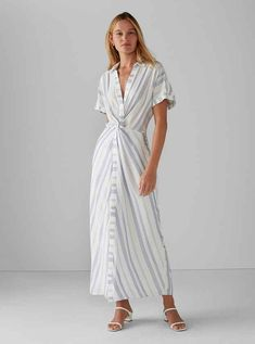 Burnout Pleated Maxi Dress Metallic Pleated Skirt, Pleated Maxi, Club Monaco, Casual Day Dresses, Dress Outfits, Modern Outfits, Stylish Outfits, Dress Remove, Short Sleeve Dresses