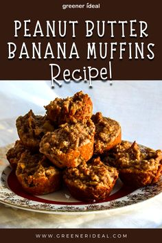 These Peanut Butter Banana Muffins are unbelievably fluffy! Made with no flour, and high in protein and are sweetened with honey. Quick & easy recipe! These peanut butter banana muffins are delicious, satisfying breakfast that's high in protein and low in sugar. This muffin recipe works great also as a healthy snack, easy lunchbox idea or even dessert! #peanutbuttermuffins #peanutbutterbanana #bananamuffins #healthymuffins #everydayhealthyrecipes #muffin #glutenfree #dairyfree #Vegan #Recipe
