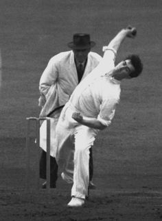 Fred Trueman during his 8 for 31 spell against India in 1952, England v India, 3rd Test, Old Trafford, 19 July, 1952