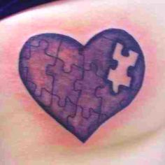 missing piece, heart puzzle tattoo | Tattoos | Pinterest