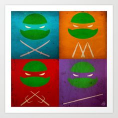 TMNT+Collection+Art+Print+by+fabvalle+-+$19.99