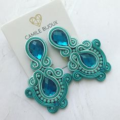 Soutache Jewelry, Beach Crafts, Stud Earrings, Necklaces, Bangle Bracelets, Earrings Handmade, Educational Activities, Ear Studs, Color Combinations