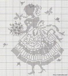 Los esquemas para la labor de punto de filete zhakkarda y el bordado. Filet Crochet Charts, Crochet Motifs, Crochet Cross, Cross Stitch Charts, Cross Stitch Designs, Cross Stitch Patterns, Cross Stitching, Cross Stitch Embroidery, Cross Stitch Silhouette