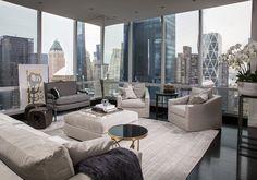 018 new york apartment luxury, luxury condo, luxury penthouse, penthouse ap Luxury Penthouse, Luxury Apartments, Luxury Homes, New York Apartment Luxury, Manhattan Apartment, Luxury Condo, Condo Living, City Living, Living Room