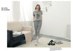 Checkered pants - 9163  USD $9.40