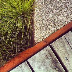 Nice detailing at Royal Botanic Gardens Cranbourne, Melbourne, Australia. #timber #concrete #grass #steel