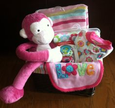 Bright Colorful Baby Gift Basket Perfect For by FiveBrownMonkies, $45.00