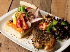 ※PLATE:お好みのオープンサンド + ハーフサラダ + ポテトのローズマリーソテー  Mr.FARMER 表参道本店 メニュー:ブレッド&スープ - ぐるなび